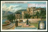 A Villa On The French Azur Coast c1915 Trade Ad Card
