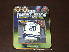 ELBY TIMELESS MAGNET MINI HOCKEY JERSEY ED BELFOUR # 20 MAPLE LEAFS