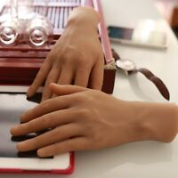 One Pair Realistic Silicone Male Hand Men's Mannequin Hands Displays Model