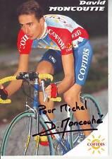 CYCLISME carte cycliste DAVID MONCOUTIE équipe COFIDIS 1999 signée