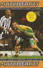 NORWICH: DEAN ASHTON SIGNED A4 (12x8) MAGAZINE PICTURE+COA