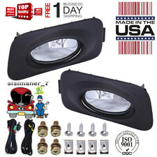 New Clear Bumper Driving Fog Lights + Bulbs + Switch For Acura TSX JDM 2004-2005
