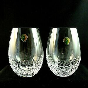 """*NEW* Waterford """"Lismore Nouveau"""" Stemless Deep Red Wine Glass - Set of 2 *NWT*"""