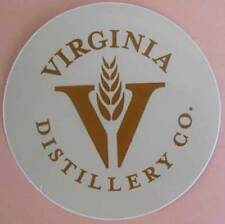 VIRGINIA DISTILLERY Co., Single Malt Whisky STICKER, LABEL, Lovingston, VIRGINIA