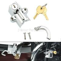 Chrome Motorcycle Helmet Lock for Harley Dyna Softail Road Glide King FatBoy FXD