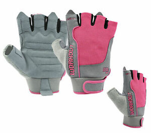 PINK Womens Cycling Cycle Bicycle Fingerless Riding Gloves Mitts