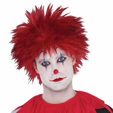 Adults Killer Clown Evil Red Wig Hair Halloween Fancy Dress Outfit Accessory