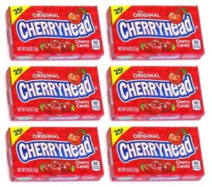 6x The Original Cherryhead Cherry Flavored Candies American Sweets - New