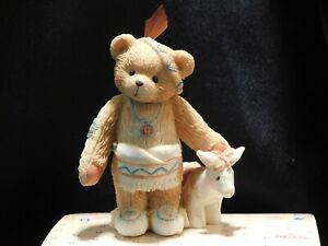 """Cherished Teddies THANKSGIVING """"WYLIE"""" - Boy with Feather & Pony - Mint w/Papers"""