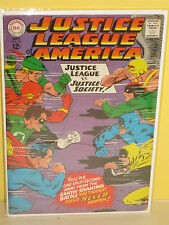 JUSTICE LEAGUE of AMERICA #56 - Justice Society Crossover (DC, 1967) FN+  Silver