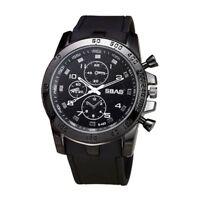 SBAO New Alloy Luxury Sport Analog Quartz Men Fashion Wrist Watch Black A2M8