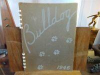 1946 ALGONA HIGH SCHOOL Iowa Original YEARBOOK Annual Bulldog