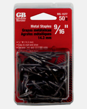 """Gardner Bender 9/16"""" METAL CABLE STAPLE Insulated Easy 50 Pack Wire MS-1577 NEW"""