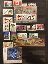 Intéressante Collection de 140 Timbres + 6 Blocs Nations Unies. ** et Oblitérés