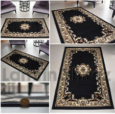 Shiraz Traditional Black Cream Floral Rug Carpet Mats Free Shipping uk