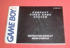 Notice Pour Console Game Boy [FAH-1] Nintendo *JRF