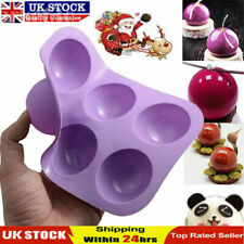 UK Semi Sphere Half Round Silicone Bakeware Mould Dome Chocolate Bombe Pan 2020