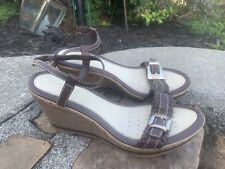 GEOX Sandals Size 39 Brown Leather Boho Retro ECU