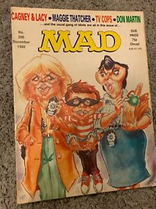 Mad Magazine #296, December 1986, Cagney & Lacy, VG/GD, UK