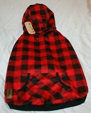 New listing Pawz Road Dog Plaid Coat Hoodie Sweater w/Removable Hood - L, Xl, or 2Xl
