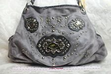 Kathy Van Zeeland Faux Leather, Embellish Shoulder Bag with Faux Snake Trim