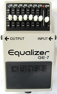Used Boss GE-7 Graphic Equalizer Guitar Pedal
