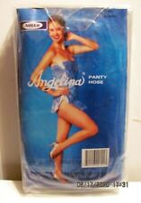 6 Pair Angelina Black 100% Nylon Pantyhose –One Size Fits 90-165 lbs.- 5'- 5'10""