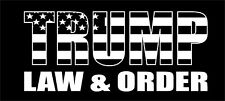 TRUMP LAW & ORDER AMERICAN BLACK FLAG STICKER POLITICAL ELECTION DECAL