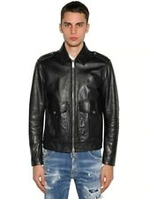 Dsquared² Leather Biker Jacket SIZe 48 - SS19/20