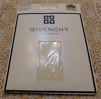 GIVENCHY Pantyhose Paris New York Ivory sz B New Vintage