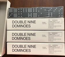 Lot of 4 NEW DOUBLE NINE DOMINOES 55 piece set Educational Teaching School MATH