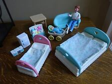 FISHER-PRICE Loving Family Dream Dollhouse Furniture toy box, baby stroller,