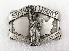 Statue of Liberty 100 year Anniversary Pewter Belt Buckle NY History Immigration