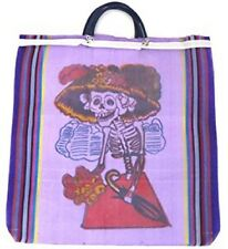 Six Lot Tote Shopping Bag Day of the Dead Reusable Grocery Market Mexico Sack