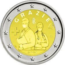2 euro commemorative Italie 2021 Remerciements Merci Grazie PREVENTE