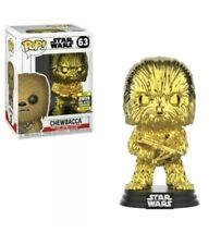 Funko Pop GOLD CHROME CHEWBACCA Star Wars Celebration SHARED Exclusive IN HAND