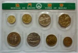 1988 1992 1993 1997 1998 MACAU MACAO CHINA - BU TYPE SET (8) - AVOS & PATACAS
