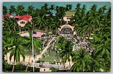 City Park Band Shell in West Palm Beach, Florida Linen Postcard Unused