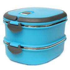 Lunch Box Edelstahl Zwei Schichten Warmhaltebox Bento Picknick Brotzeitdose I1J5