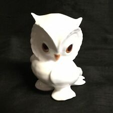 ✨ ADORABLE 'ROYAL OSBORNE' WHITE  BONE CHINA OWL FIGURINE 1419 ✨