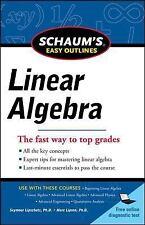 Schaum's Easy Outlines Linear Algebra by Seymour Lipschutz Paperback Book (Engli