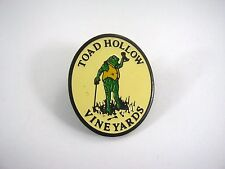 Vintage Collectible Pin: Toad Hollow Vineyards Wine Advertising