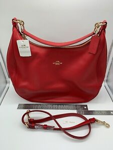 New COACH Women's Coach Harley in Pebble Leather - True Red - F38259