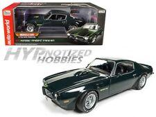 AUTOWORLD 1:18 1973 PONTIAC FIREBIRD TRANS AM  DIE-CAST GREEN AMM1109