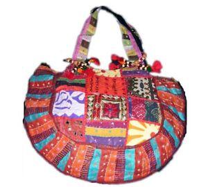 Embroidery Shoulder Handbag Bags Boho Tote Womens Ethnic Handmade