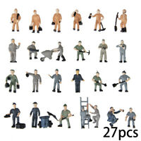 1:87 Assorted Models Trains Railway Worker People Figures Layout HO Scale Toys