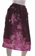 Mid-Calf Rayon Floral Skirts for Women