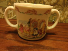 Vintage Royal Doulton Bunnykins Double Handled Mug Cup Mother Baby Carriage