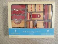 Pottery Barn Kids PBK Building Blocks NEW  39 pc Set with Bag