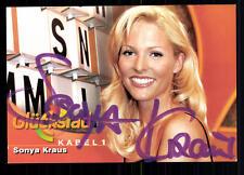 Sonya Kraus Glücksrad Autogrammkarte Original Signiert ## BC 27224